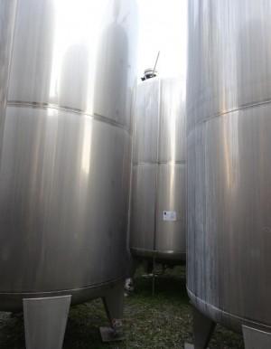 Behälter 11.070 Liter aus V2A, gebraucht, einwandig