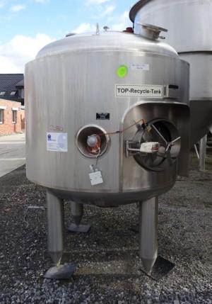 Behälter 2.000 Liter aus V4A, gebraucht, isoliert