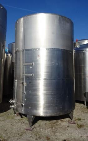 Behälter 8.000 Liter aus V2A, gebraucht, einwandig