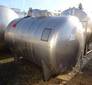 Behälter 6.000 Liter aus V2A, gebraucht, einwandig