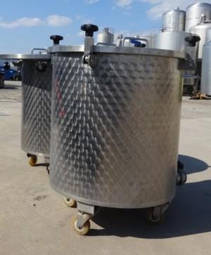 Behälter 250 Liter aus V2A, gebraucht, einwandig