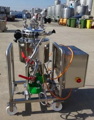 Behälter 30 Liter aus V4A, gebraucht, temperierbar, isoliert