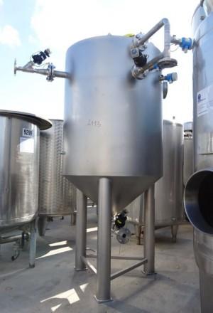 Behälter 1.035 Liter aus V4A, ungebraucht, einwandig