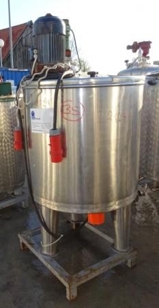 Behälter 350 Liter aus V2A, gebraucht, einwandig