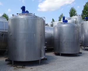 Behälter 6.000 Liter aus V2A, gebraucht, temperierbar, isoliert