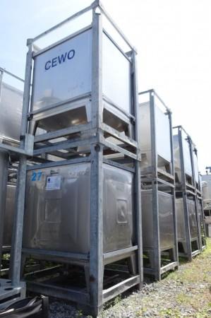 Container 1.050 Liter aus V2A, einwandig, gebraucht