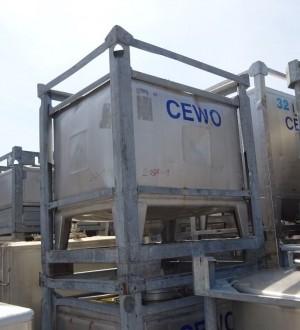 Container 700 Liter aus V2A, gebraucht, einwandig