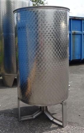 Behälter 1.000 Liter aus V2A, gebraucht, einwandig mit Schwimmdeckel