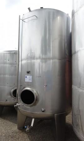 Behälter 5.500 Liter aus V2A, gebraucht, einwandig, temperierbar