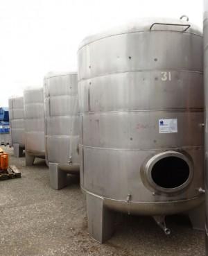 Behälter 5.000 Liter aus V2A, gebraucht, einwandig, temperierbar