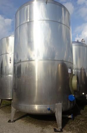 Behälter 25.000 Liter aus V4A, gebraucht, einwandig, mit GFK-Innenbeschichtung