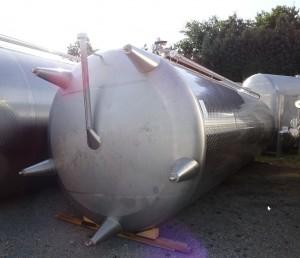 KZE-Behälter 32.800 Liter aus V2A, gebraucht, einwandig