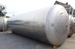 Behälter 42.300 Liter aus V2A, gebraucht, einwandig