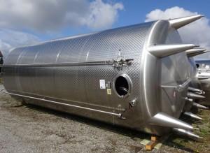 Behälter 55.400 Liter aus V2A, gebraucht, einwandig