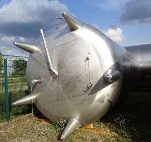 Behälter 40.000 Liter aus V2A, gebraucht, einwandig