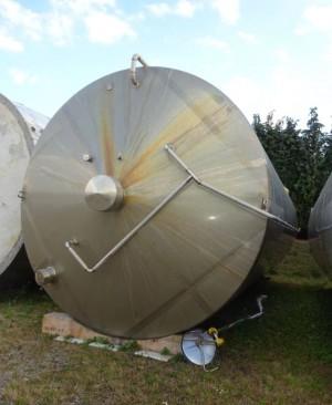Behälter 80.000 Liter aus V2A, gebraucht, temperierbar, isoliert
