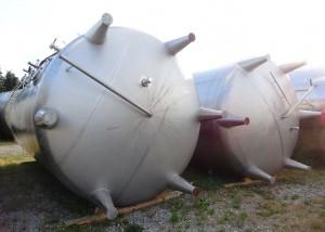 Behälter 43.000 Liter aus V2A, gebraucht, einwandig