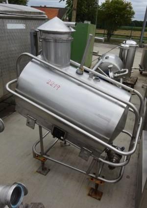 Eichbehälter 200 Liter aus V2A, gebraucht, einwandig