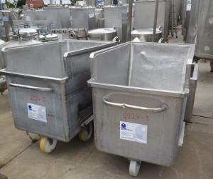 Wanne 300 Liter aus V2A, gebraucht Bauform: rechteckig, einwandig