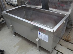 Wanne 550 Liter aus V2A, gebraucht, einwandig