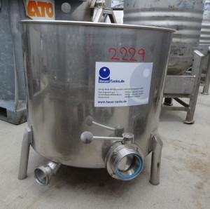 Behälter 140 Liter aus V2A, gebraucht, einwandig