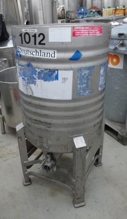 Behälter 170 Liter aus V2A, gebraucht, einwandig