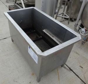 Wanne 250 Liter aus V2A, gebraucht, einwandig