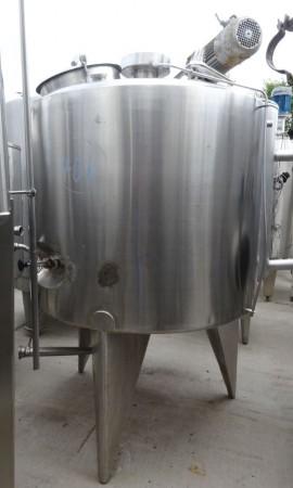 Behälte 1.000 Liter aus V2A, gebraucht, temperierbar, isoliert