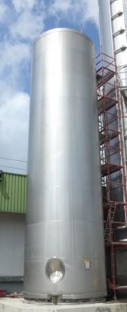 Behälter 130.000 Liter aus V2A, isoliert, gebraucht