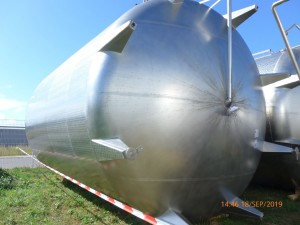KZE-Tank 90.000 Liter aus V2A, gebraucht, einwandig