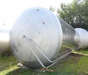 KZE-Tank 63.500 Liter aus V2A, gebraucht, einwandig