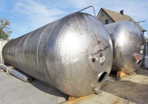 Druckbehälter 45.000 Liter aus V2A einwandig