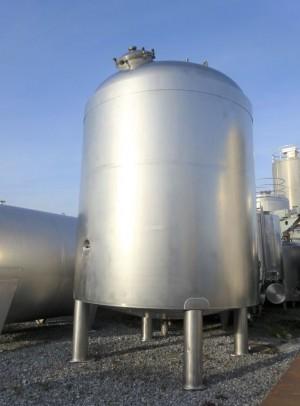 Druckbehälter 27.600 Liter aus V4A, isoliert