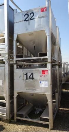 Schüttgutcontainer 1.000 Liter aus V2A