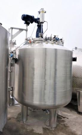 Druckbehälter 1.750 Liter aus V4A, temperierbar, isoliert