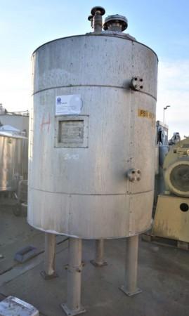 Druckbehälter 930 Liter aus V4A, temperierbar, isoliert