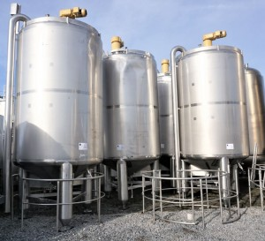 Behälter 10.000 Liter aus V2A einwandig