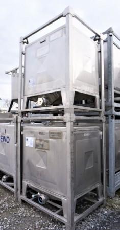 Container 1.000 Liter aus V2A einwandig