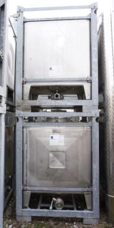 Container 1.050 Liter aus V2A