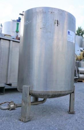 Behälter 600 Liter aus V4A einwandig, gebraucht