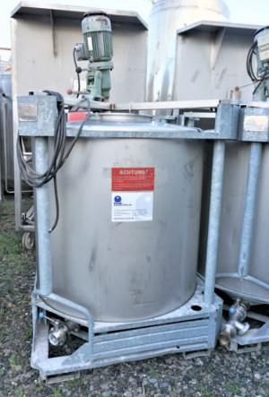 Container 1.025 Liter aus V2A, einwandig, gebraucht