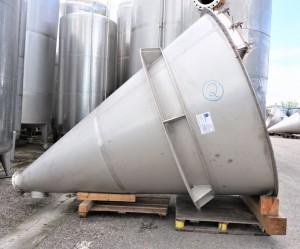 Konusbehälter 4.000 Liter einwandig, gebraucht