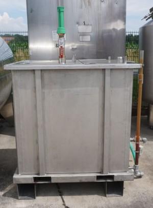 Behälter 1.000 Liter aus V4A, einwandig, gebraucht