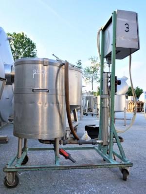 Behälter 120 Liter aus V4A, einwandig, gebraucht
