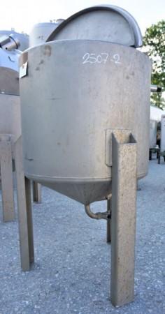 Behälter 180 Liter aus V4A, einwandig, gebraucht