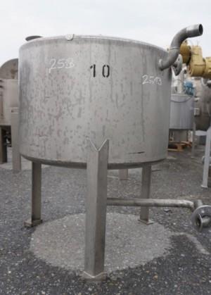 Behälter 250 Liter aus V4A, einwandig, gebraucht