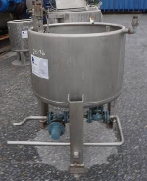 Behälter 240 Liter aus V4A, einwandig, gebraucht