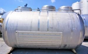 Druckbehälter 18.430 Liter aus V2A einwandig, temperierbar, gebraucht