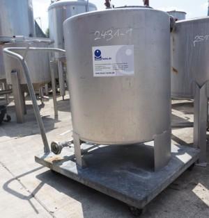 Behälter 200 Liter aus V4A, einwandig, gebraucht
