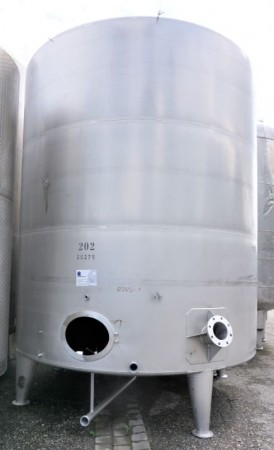 Behälter 25.000 Liter aus V2A einwandig, gebraucht